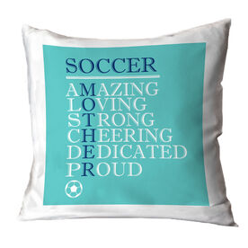 Soccer Throw Pillow - Mother Words