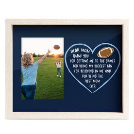 Football Premier Frame - Dear Mom Heart
