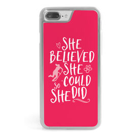 Field Hockey iPhone® Case - She Believed She Could So She Did