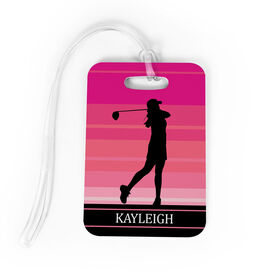 Golf Bag/Luggage Tag - Personalized Female Golfer