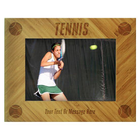 Tennis Bamboo Engraved Picture Frame Tennis