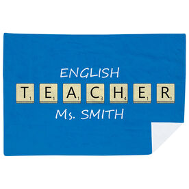Personalized Premium Blanket - Teacher Tiles