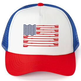 Crew Trucker Hat American Flag