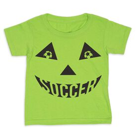 Soccer Toddler Short Sleeve Tee - Soccer Pumpkin Face