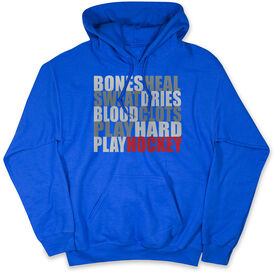 Hockey Hooded Sweatshirt - Bones Saying