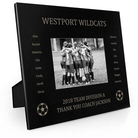 Soccer Engraved Picture Frame - Team Name With Roster