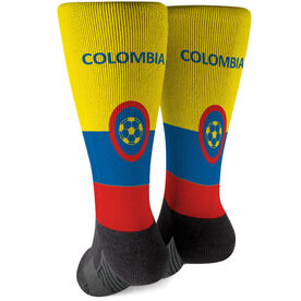 Soccer Printed Mid-Calf Socks - Colombia