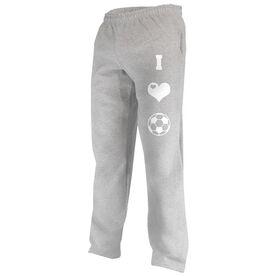 I Love Soccer (Symbols) Fleece Sweatpants