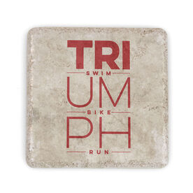 Triathlon Stone Coaster Triumph Swim Bike Run