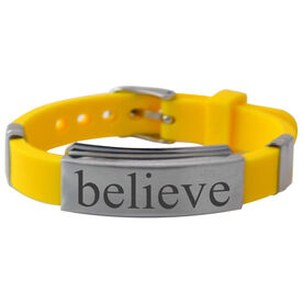 Believe Silicone Bracelet