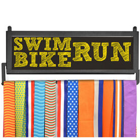 TriathletesWALL Swim Bike Run (Stacked) Medal Display