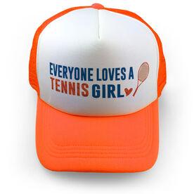 Tennis Trucker Hat Everyone Loves A Tennis Girl