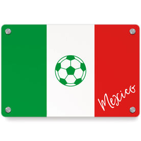 Soccer Metal Wall Art Panel - Mexico