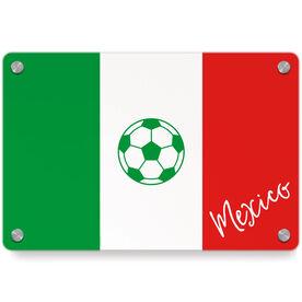 Soccer Metal Wall Art Panel - Mexico