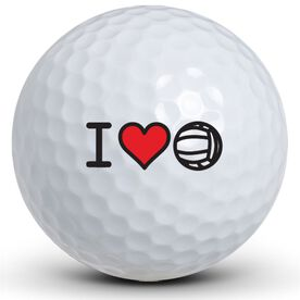 I Heart VolleyBall Golf Balls