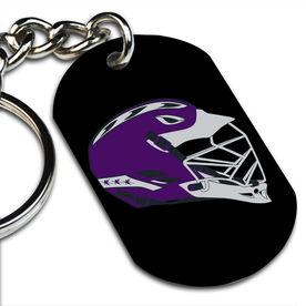 Lacrosse Printed Dog Tag Keychain Lacrosse Helmet