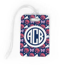 Cheerleading Bag/Luggage Tag - Personalized Cheerleading Pattern Monogram
