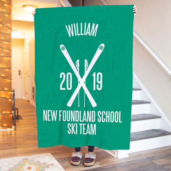 Skiing Premium Blanket - Personalized Team