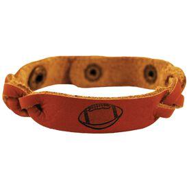 Football Ball Leather SportBANDZ Bracelet