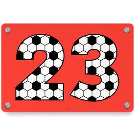 Soccer Metal Wall Art Panel - Custom Numbers