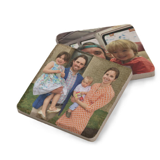Personalized Stone Coaster Set of Two - Your Photo 2 Coasters