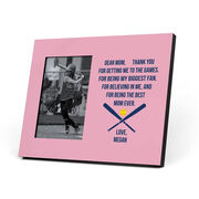 Softball Photo Frame - Dear Mom Heart