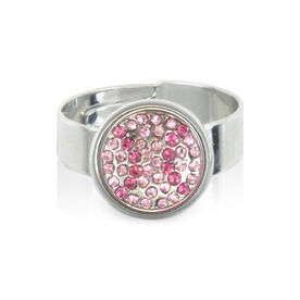 Softball Pink Rhinestone SportSNAPS Ring