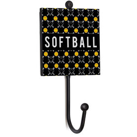 Softball Medal Hook - Softball Pattern