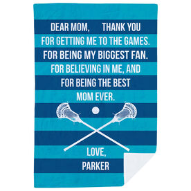 Guys Lacrosse Premium Blanket - Dear Mom Heart