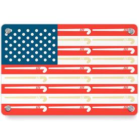 Field Hockey Metal Wall Art Panel - American Flag