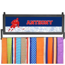 AthletesWALL Medal Display - Personalized 2 Tier Hockey Player