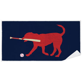 Baseball Premium Beach Towel - Buddy the Baseball Dog