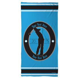 Golf Beach Towel Custom Crest