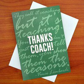 THANKS COACH - MySPORT Card (Green Lombardi Quote)