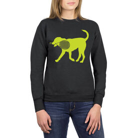 Tennis Crew Neck Sweatshirt - Dennis The Tennis Dog