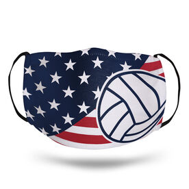 Volleyball Face Mask - USA Flag