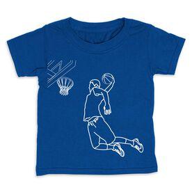 Basketball Toddler Short Sleeve Tee - Basketball Player Sketch