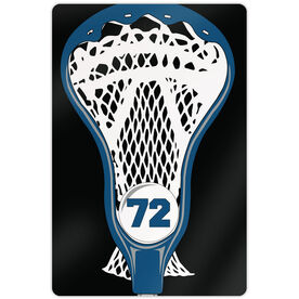 "Lacrosse Aluminum Room Sign (18""x12"") Personalized Guys Stick Head"