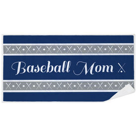 Baseball Premium Beach Towel - Mom Stripe
