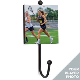 Girls Lacrosse Medal Hook - Your Player Photo
