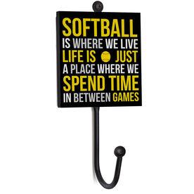 Softball Medal Hook - Softball Is Where We Live