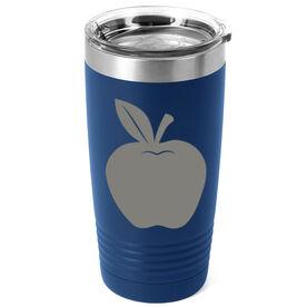 Personalized Teacher 20 oz. Double Insulated Tumbler - Monogram Apple