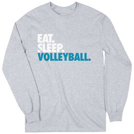 Volleyball T-Shirt Long Sleeve Eat. Sleep. Volleyball.