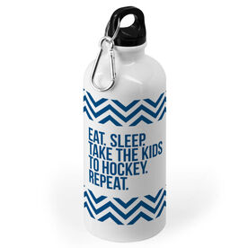 Hockey 20 oz. Stainless Steel Water Bottle - Eat Sleep Take The Kids To Hockey