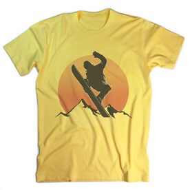 Snowboarding Vintage T-Shirt - Sunset