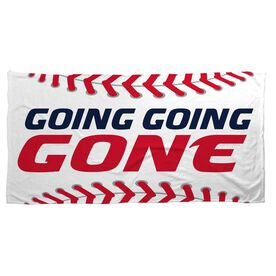 Baseball Beach Towel Going Going Gone