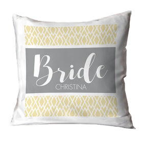 Personalized Throw Pillow - Stylish Bride