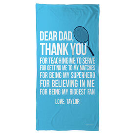 Tennis Beach Towel Dear Dad