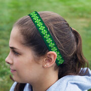 Athletic Juliband No-Slip Headband - Big Clover Pattern