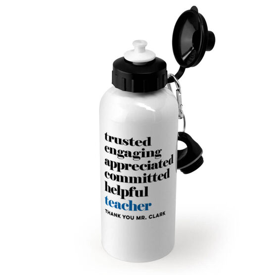 Personalized 20 oz. Stainless Steel Water Bottle - Teacher Mantra